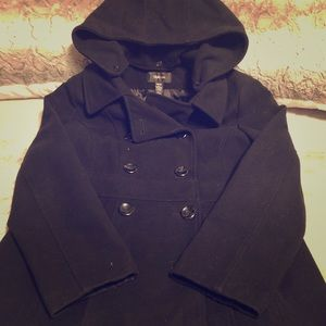 Style&co. pea coat with removable hood Medium